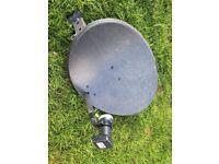 Sky satellite dish and LNB