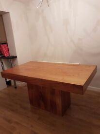 Beautiful Indian Wood Dining Table and 4 Chairs
