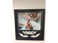 Signed carl Fogarty photo in frame with certificate of authenticity