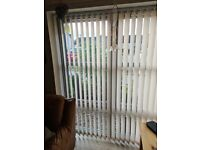 Vertical Blinds - Pale Peachy/Beige - were Made to Measure - Smoke Free Home