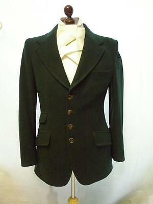 * VINTAGE MENS HARRY HALL GREEN WOOLEN HUNTING JACKET SIZE 38 inch CHEST *