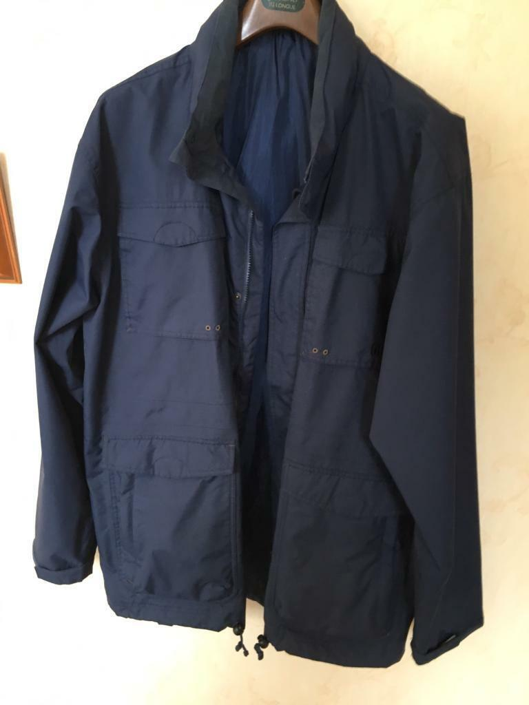 "Waterproof HiGear Jacket Navy XXL 50"" Chestin Exmouth, DevonGumtree - Very good Condition Waterproof Jacket with concealed Hood. Little Worn . Decent Size"