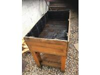 Selections Veg Trough Large Wooden Raised Vegetable Bed Planter