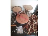 3 Hand Drums,Dancing Rattles and Bells