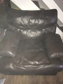 X2 3 seater leather couches x1 single seat couch excellent condition collection only