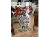 Large vintage Pepsi cola mirrored picture - bar picture