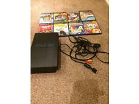 PS 2 console and games