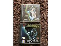 PlayStation 1 boxed alien games. Ps1