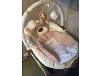 £15.00 Baby bouncing chair (MOTHERCARE LOVED SO MUCH BOUNCER)