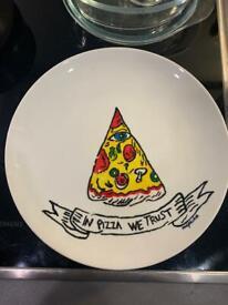 Handmade pizza plate