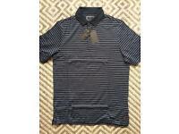 Ashworth Primatec Striped Polo Shirt Navy Medium £54.99 RRP Golf
