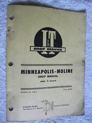 It Minneapolis Moline Gb Ub Zb Tractor Shop Manual