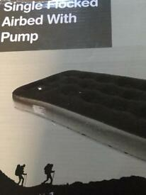 Single airbed matress with pump (not electric) New in box by Yellowstone