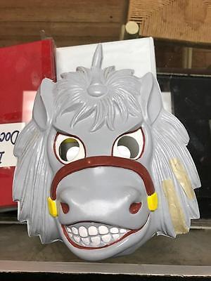 Grey Horse Costume Mask 1950's Collegeville Costume Company