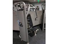 Cybex chest press and a technogym delt machine