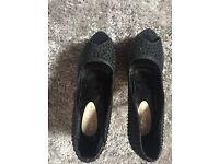 Black platform heels size 6 never worn
