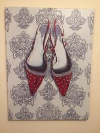 Red Shoes Canvas