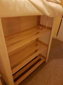 2x shelving units with cover