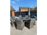 Grace bay rattan garden furniture- 8 seater
