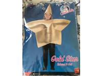 Children's (Age 6-8) Gold Star Costume *Collection only