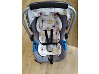 Cosatto car seat and iso fix base