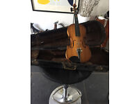 Children's violin (very old), case and bow in need of replacement or repair