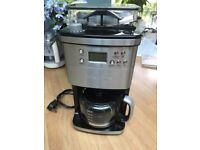 Andrew James Premium Coffee Maker With Integrated Grinder