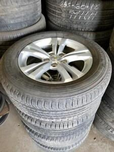 225 65 17 all season tires on Chevy Equinox GMC Terrain 5x120 rims TPMS //// OEM  Alloy rims in stock