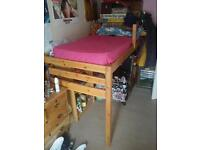 Single Wooden Bunk bed.Matress included Great condition