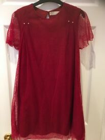 Girls age 11-12 Zara red dress worn once for a party