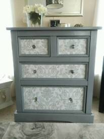 Large set of solid wood upcycled drawers