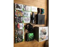 Xbox 360 250GB + 10 Games and accessories