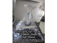 Art Deco Cut Crystal Perfume Bottle gift boxed
