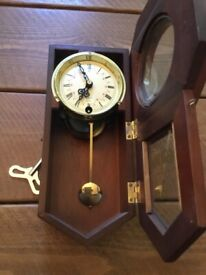 REDUCING Lovely 31 Day Key Wound Regulator Wooden Wall Clock