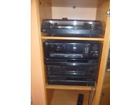 FOR SALE: Stereo system, separates, with beech cabinet and 5 speakers