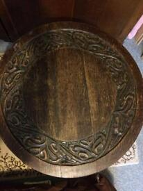 19th century tip up top tri-pod table
