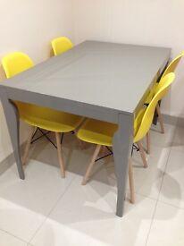 High gloss grey table