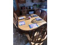 Dining oak table and chairs