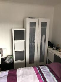 Wardrobe and box unit from Ikea in white