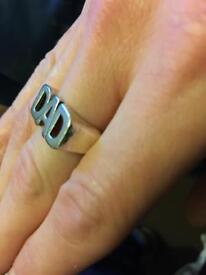 Sterling silver 925 Hallmark Dad ring size T