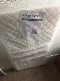 Mother Nurture Luxury Travel Cot Mattress 119cmx59cm - BRAND NEW - MADE IN UK