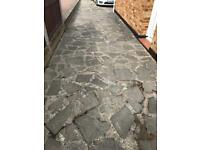Granite stone crazy paving 70 sq metre