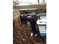 16 FOOT FISHING BOAT / TRAILER WITH GUIDE ROLLERS,