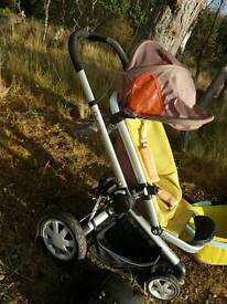 Quincy all terrain Pram and cot