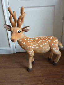 Lovely Tall Christmas Reindeer Soft Toy - stands alone