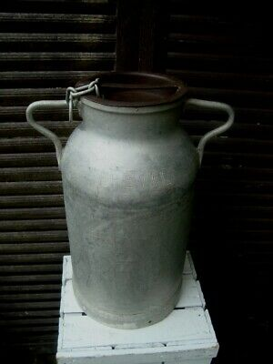 Vintage French PREVAL Milk Churn & Lid Weddings/Garden Planter/Stick Stand LOT B