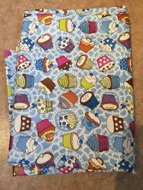 3M of wipe clean fabric. Unused. Cupcake design.