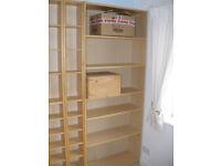 Ikea Book case and CD/DVD shelving, Oak Veneer