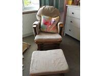 Nursery Glider Rocking Vhair with footstool