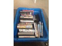 Job lot of 45+ DVDs.